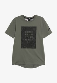 adidas Performance - TEE - Print T-shirt - legend green/black - 2