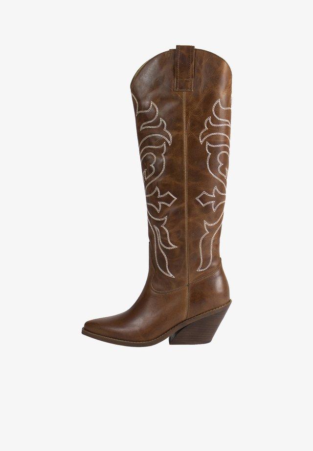 ROA - Cowboy/Biker boots - cognac