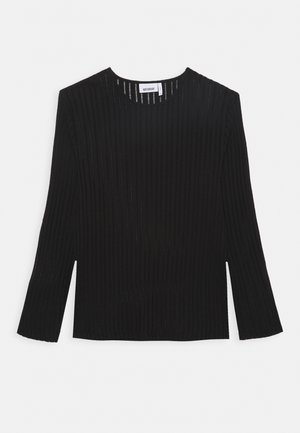 SVANTE STRUCTURE LONGSLEEVE - Long sleeved top - black