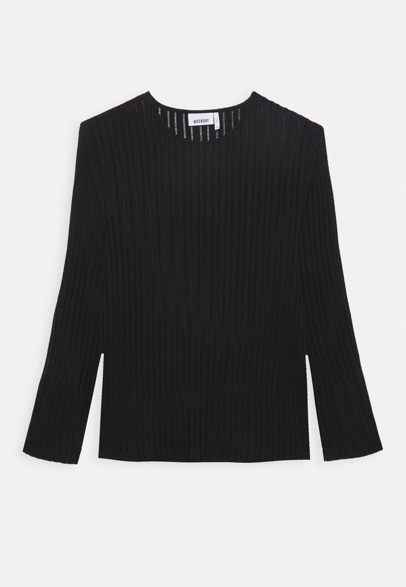 Weekday - SVANTE STRUCTURE LONGSLEEVE - Long sleeved top - black