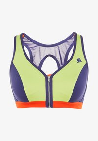 Shock Absorber - ACTIVE FRONT ZIP - Sports bra - hellgrün/blau - 3
