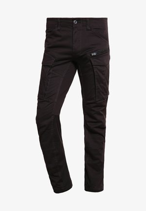 ROVIC ZIP 3D STRAIGHT TAPERED - Cargo trousers - raven