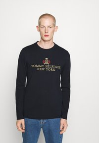 Tommy Hilfiger - SMALL CREST ICON TEE - T-shirt à manches longues - blue - 0