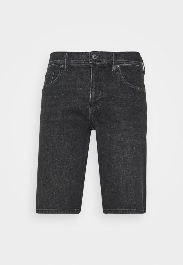 Denim shorts - grey light wash