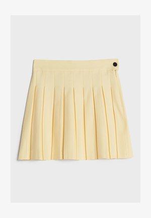 MIT KNÖPFEN  - Kietaisuhame - yellow