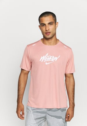 RISE 365 - Triko spotiskem - rust pink