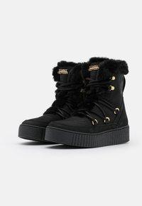 Tommy Hilfiger - WARM LINED LACE UP BOOTIE - Platform ankle boots - black - 2