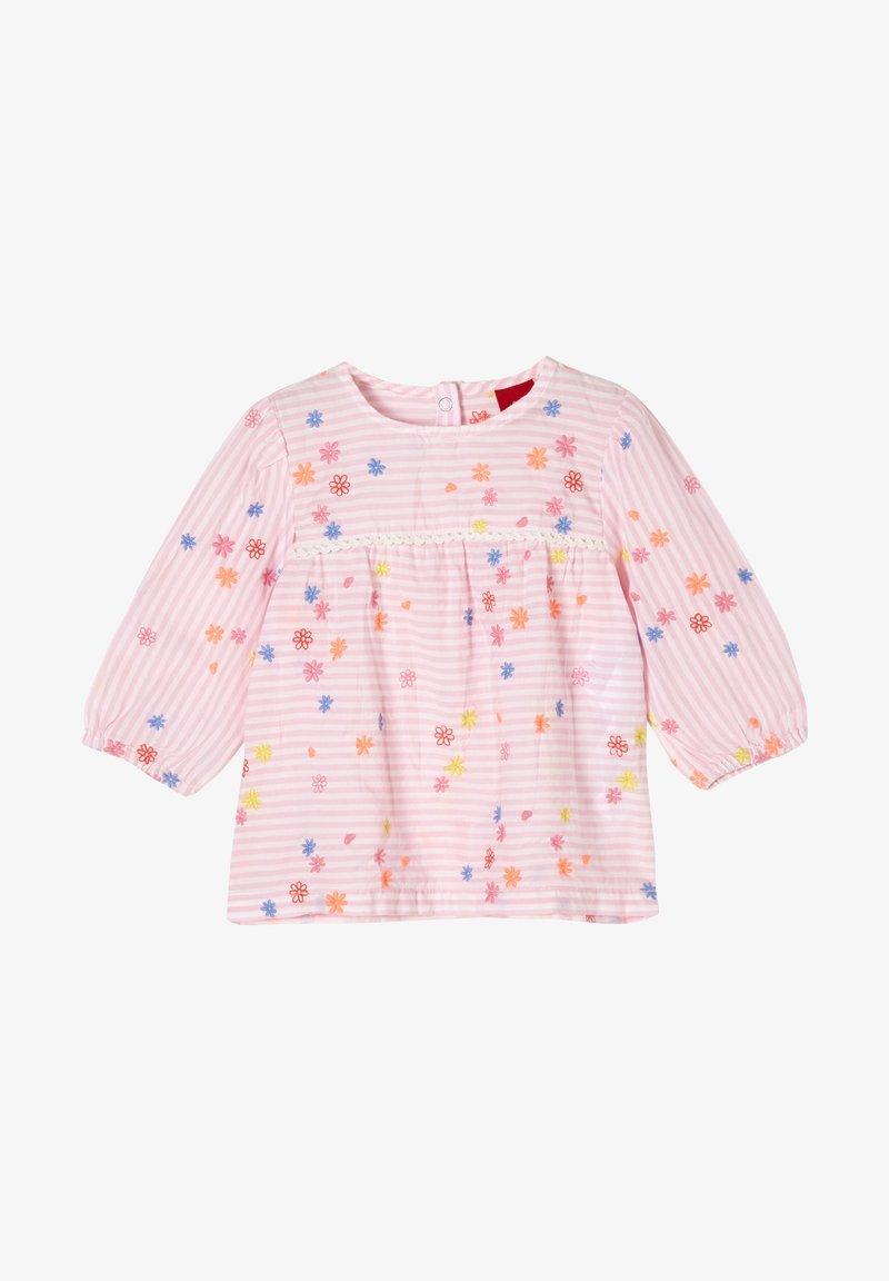s.Oliver - Long sleeved top - light pink stripes flowers