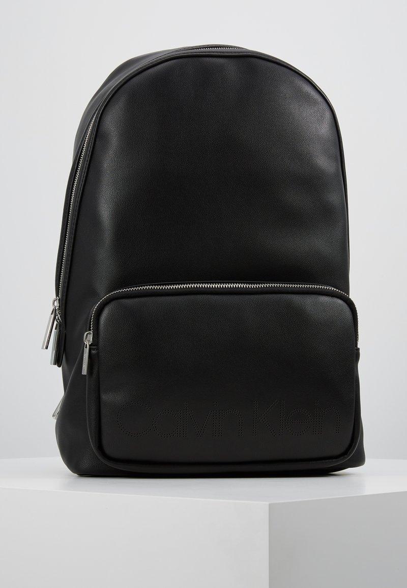 Calvin Klein - PUNCHED ROUND  - Rucksack - black