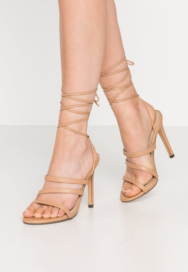 HARTLEY - High heeled sandals - nude