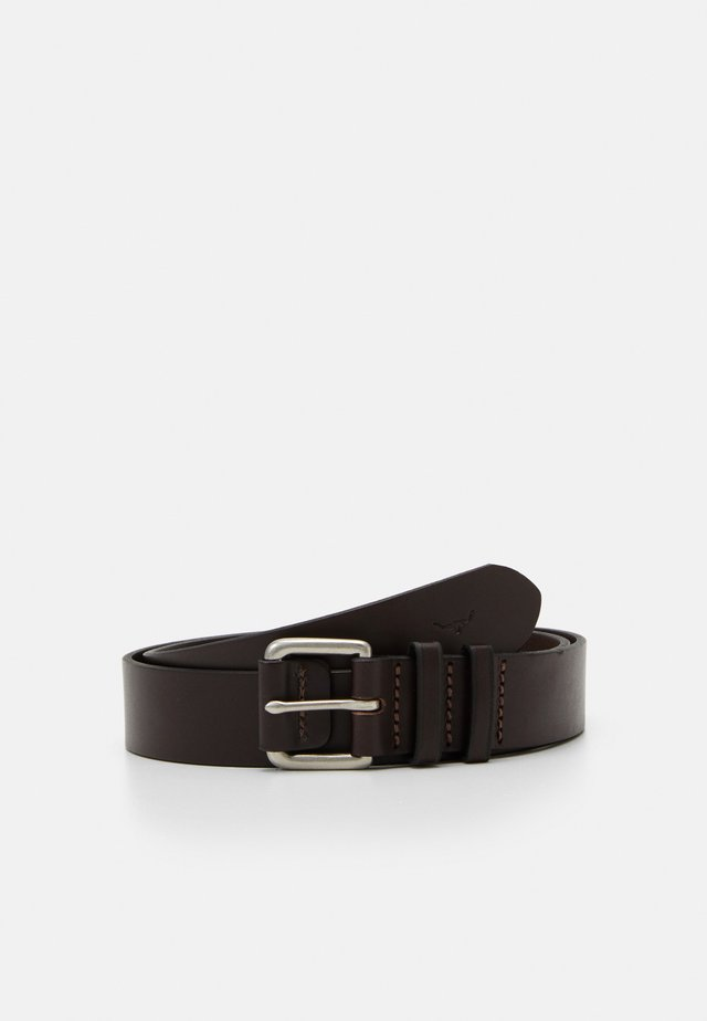 COVERED BUCKLE BELT - Riem - chestnut