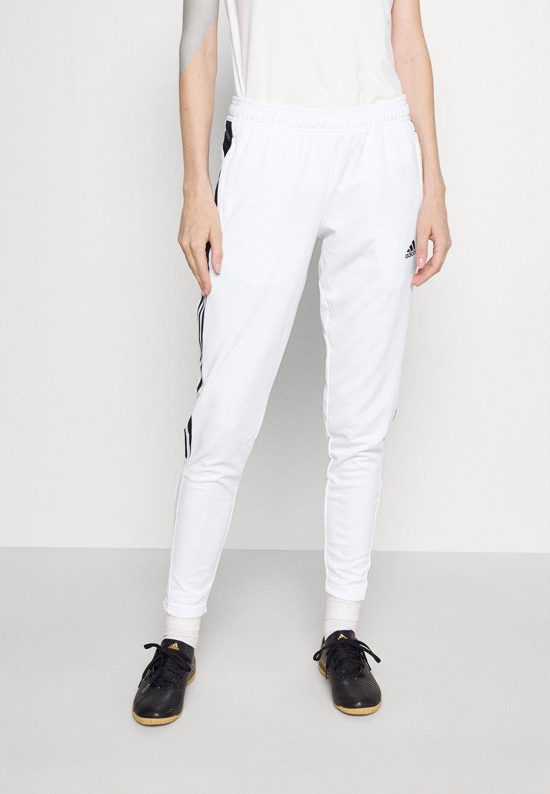 adidas Performance - Tracksuit bottoms - white/black