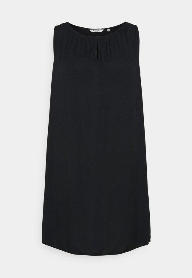 DRESS FLUENT SLEEVELESS - Korte jurk - deep black