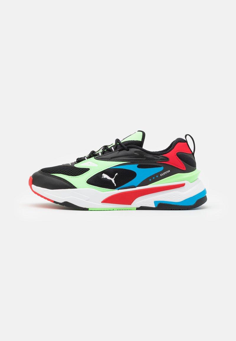 Puma - RS-FAST - Tenisky - black/elektro green/high risk red