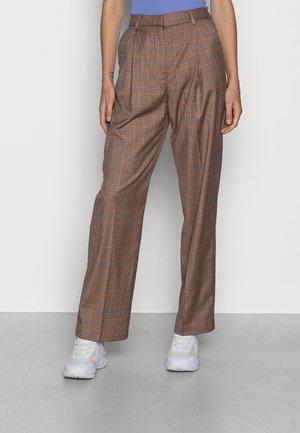 PANTS - Trousers - beige orange burgundy
