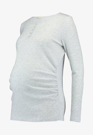 HENLEY SLEEVE - Langærmede T-shirts - grey