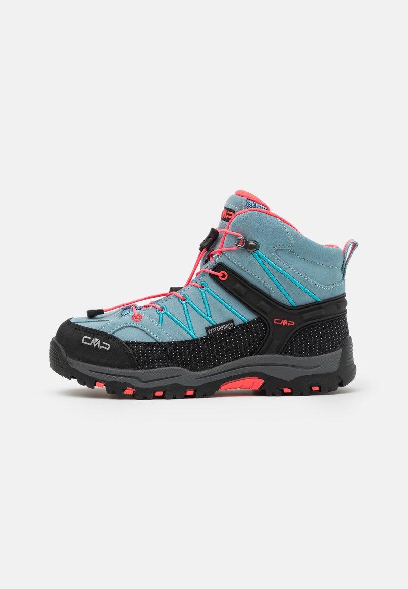 CMP - KIDS RIGEL MID TREKKING SHOE WP UNISEX - Hiking shoes - clorophilla/red fluo