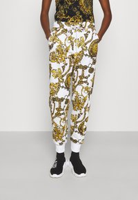 Versace Jeans Couture - PANTS - Tracksuit bottoms - white/gold - 0