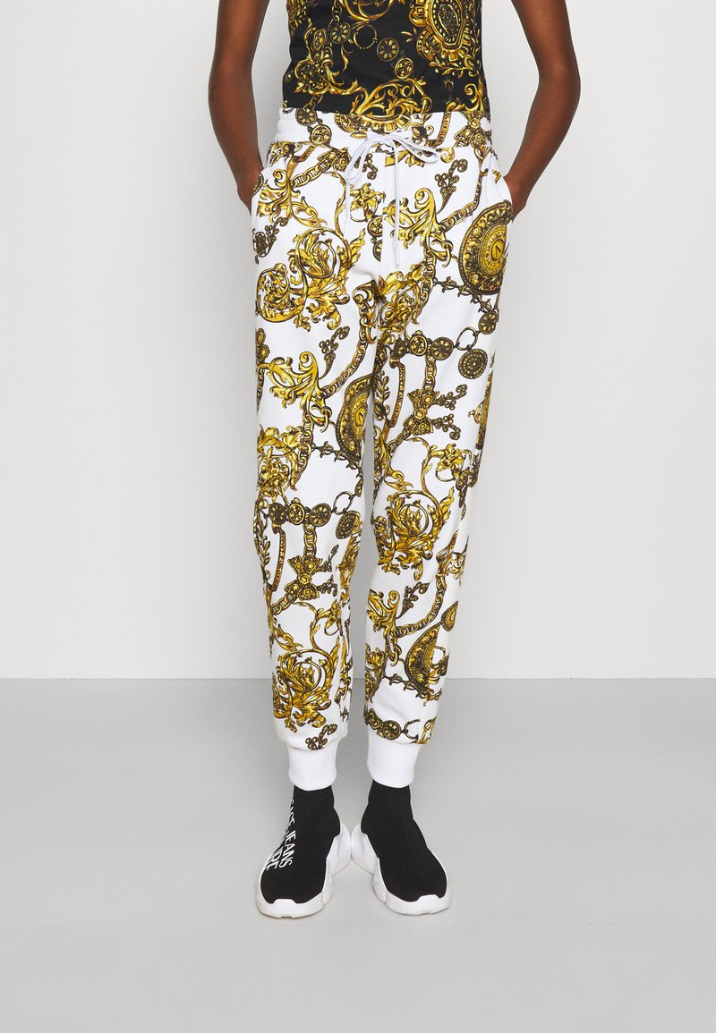 Versace Jeans Couture - PANTS - Tracksuit bottoms - white/gold