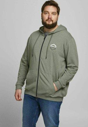 JJDELIGHT  - Zip-up hoodie - dusty olive