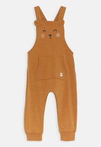Lindex - TROUSERS BIB BEAR UNISEX - Tuinbroek - dusty brown - 0