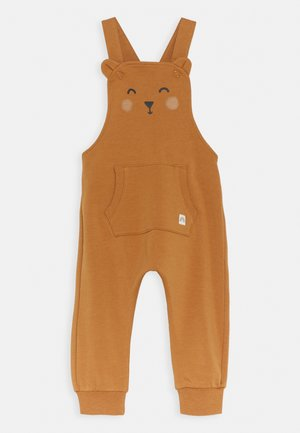TROUSERS BIB BEAR UNISEX - Dungarees - dusty brown