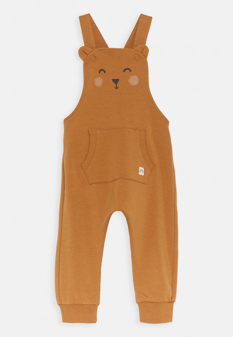 Lindex - TROUSERS BIB BEAR UNISEX - Dungarees - dusty brown