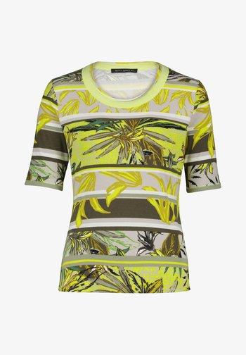 T-shirt imprimé - green/yellow