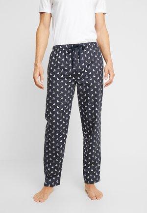 X MAS  - Pyjama bottoms - blue dark alloverprint