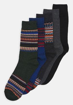 JACWINTER PATTERN SOCKS 5 PACK - Chaussettes - dark grey melange