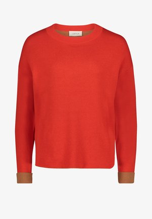 Jumper - red/camel