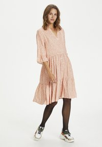 Saint Tropez - Day dress - terra cotta zig zebra - 1