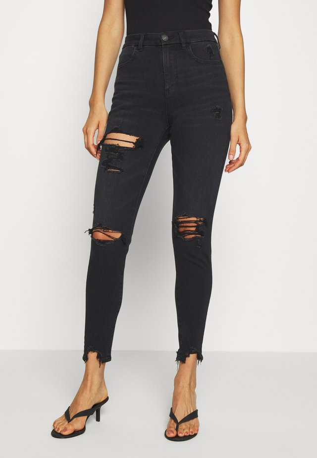 SUPER HI RISE DREAM - Jeansy Skinny Fit - washed black