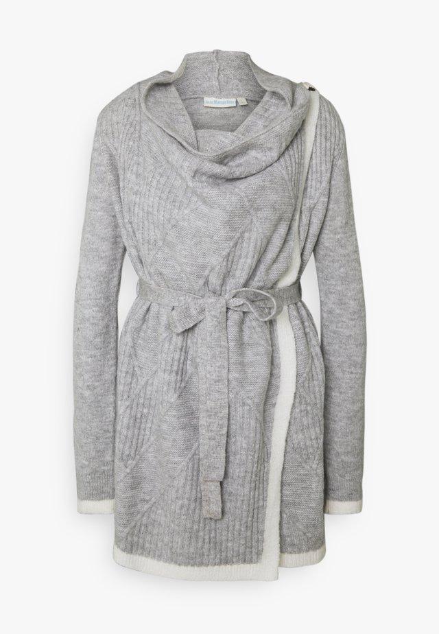 DRAPE MATERNITY & NURSING CARDIGAN - Vest - marl grey