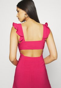 NA-KD - PAMELA REIF X NA-KD FRILL DETAIL MINI DRESS - Day dress - rosewood - 4