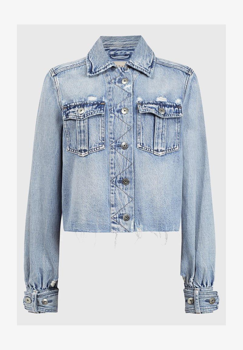 AllSaints - MAISY DENIM SHIRT JA - Denim jacket - blue
