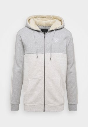 CUT AND SEW BORG ZIPTHROUGH HOODIE - Bluza rozpinana - grey marl/snow marl