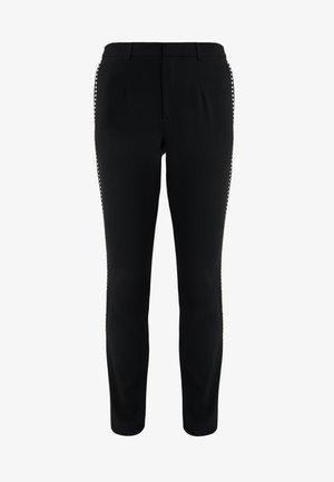 CHARLENE GLAM PANTS - Bukse - black