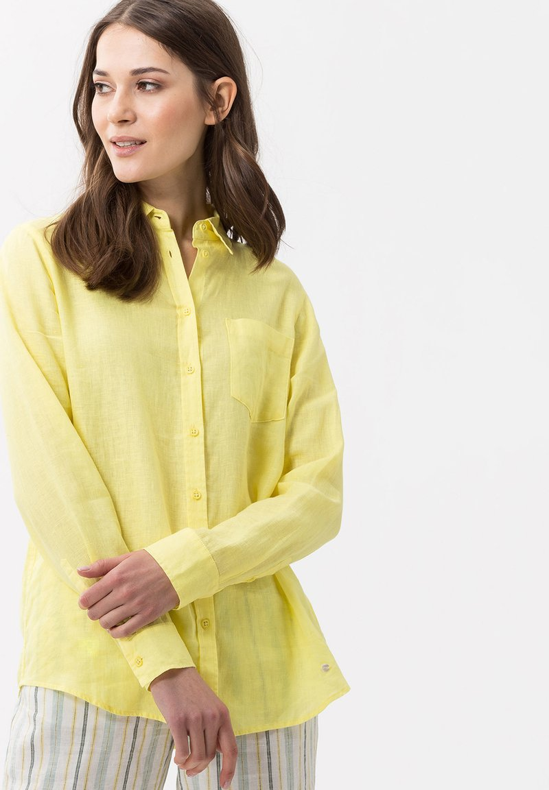 BRAX - VICTORIA - Button-down blouse - yellow
