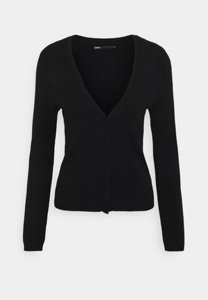 ONLLESLY V NECK BUTTON - Cardigan - black