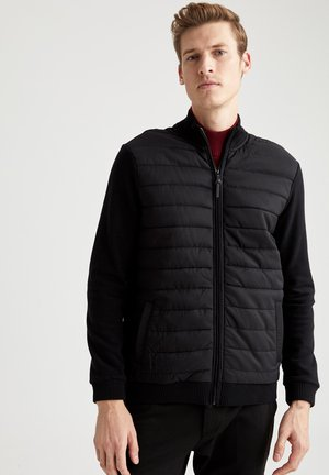 REGULAR KNITTED  - Light jacket - black