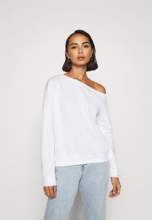 OFF SHOULDER - Sweatshirt - white