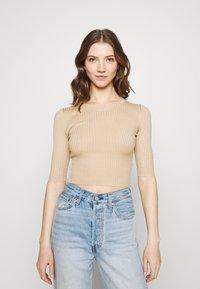 Even&Odd - 2 PACK - T-shirt basic - mottled grey/sand - 3