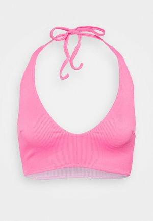 REVERSIBLE ANTONIA PLUNGE LONGLINE - Bikini top - pink/purple