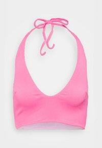 We Are We Wear - REVERSIBLE ANTONIA PLUNGE LONGLINE - Bikini top - pink/purple - 4