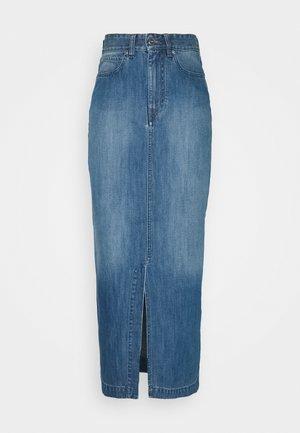 FRONT SPLIT SKIRT - Denim skirt - fresh blue