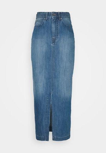 FRONT SPLIT SKIRT - Denimová sukně - fresh blue