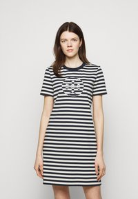 Tory Burch - LOGO DRESS - Jersey dress - tory navy/new ivory - 0