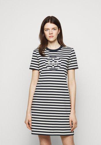 LOGO DRESS - Jersey dress - tory navy/new ivory