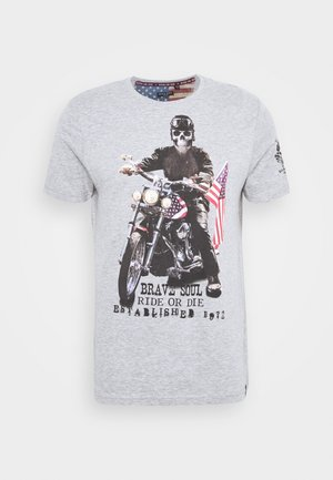 BRANDOX - T-shirt print - light grey marl